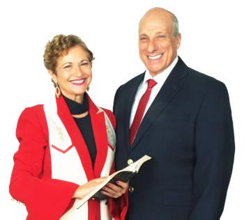Archbishop Dominiquae and Rabbi Baruch Bierman