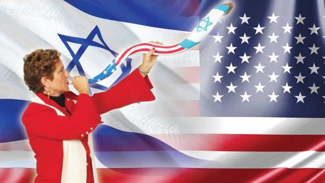 AB American and Israeli flags